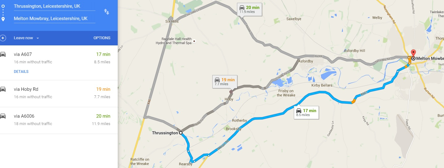 directions from melton to star inn 1744